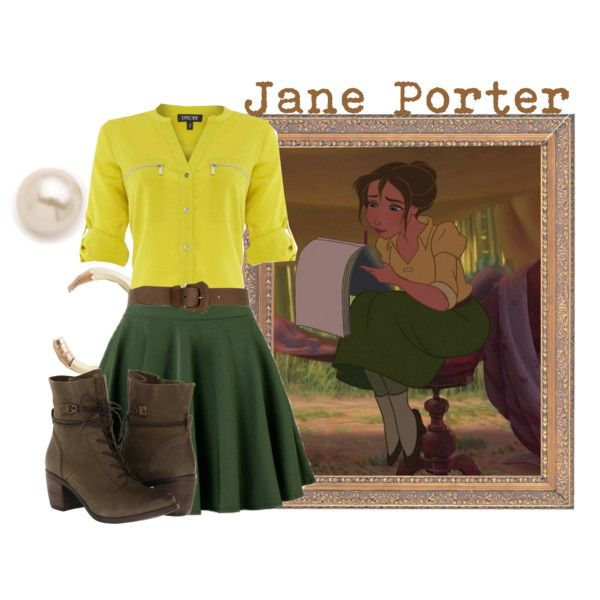"""Jane Porter"" by merahzinnia on Polyvore  I don't have these but it's cute"