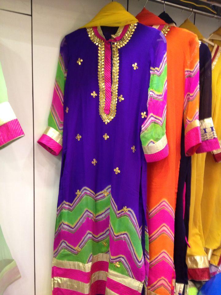Bhupal shahi Lehariya georget suits with gota patti by Araina Fabs Mount Abu . contact Ankit 09983401578