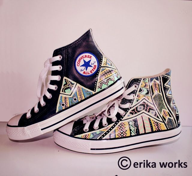 Hand painted custom Converse shoes... NEED THESE