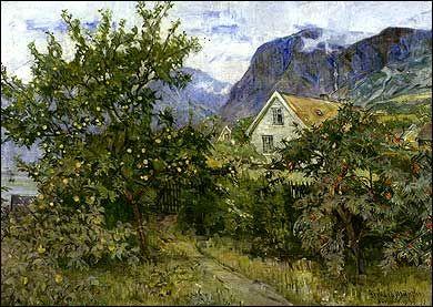 Gerhard Munthe (Norway, 1849-1929): Fra Aurland
