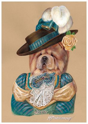 chow chow. Lady in Turquoise