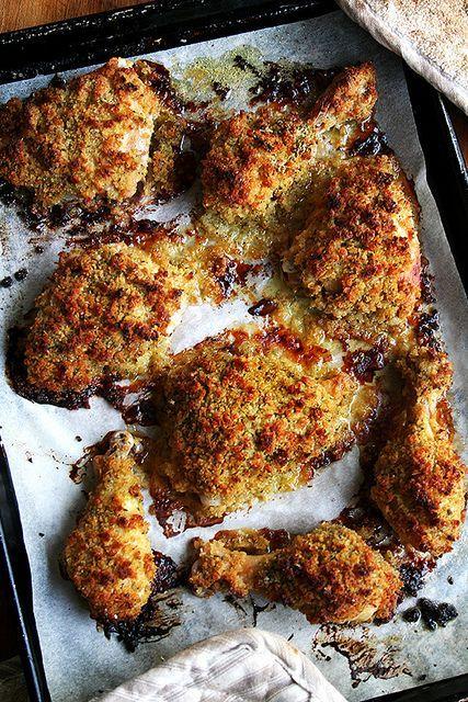 Crispy mustard roasted chicken recipe ina garten wine for Ina garten mustard fish