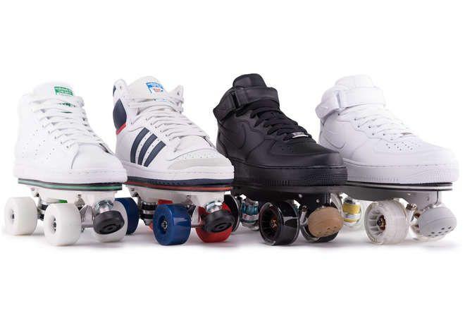 Du grand génie : Ces plateformes transforment vos baskets en patins à roulette !