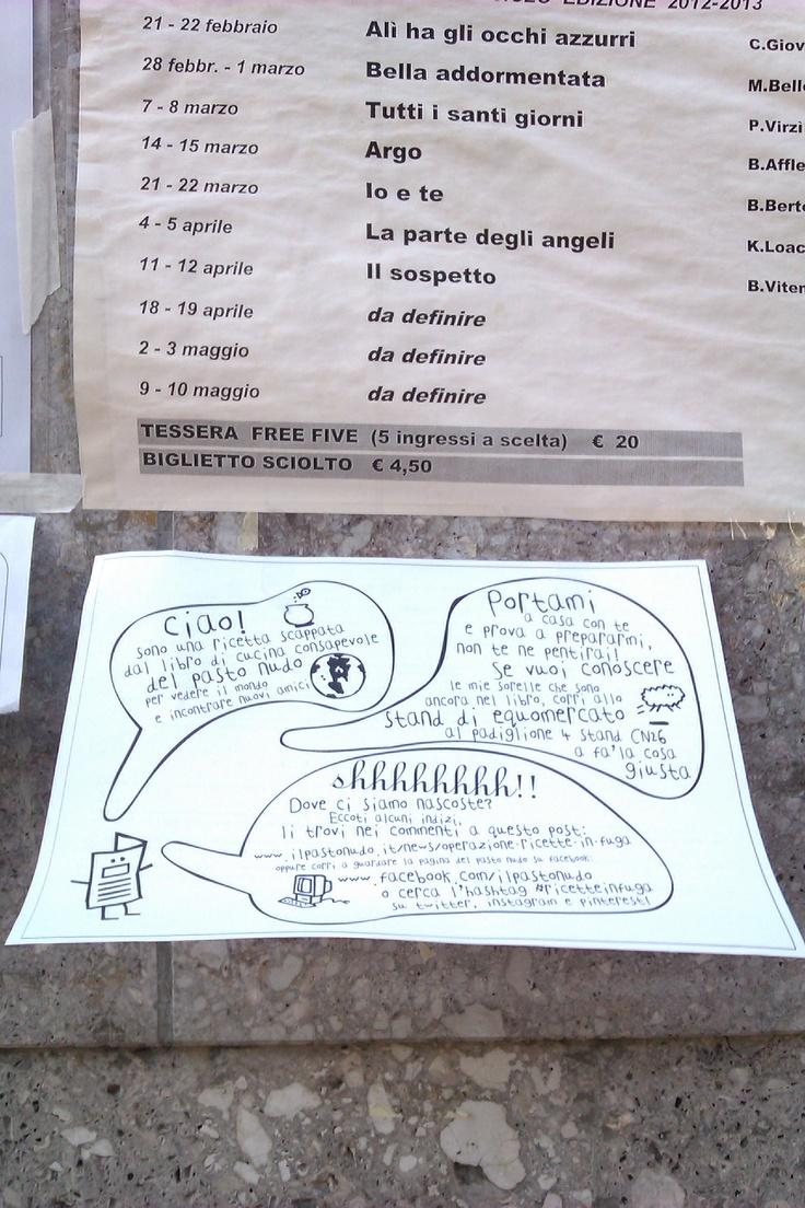 Ed ecco altre #ricetteinfuga, in gita al centro anziani..Ancora in Borgo Santa Caterina, a Bergamo... Chi va a prenderle??