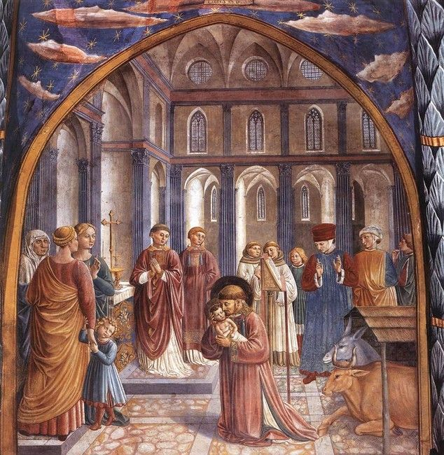 Scenes from the Life of St. Francis of Assisi (Scene 9, north wall) | Gozzoli