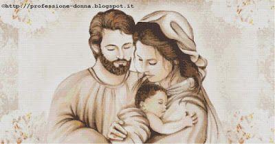 Professione Donna: Schema a punto croce: Sacra Famiglia_18