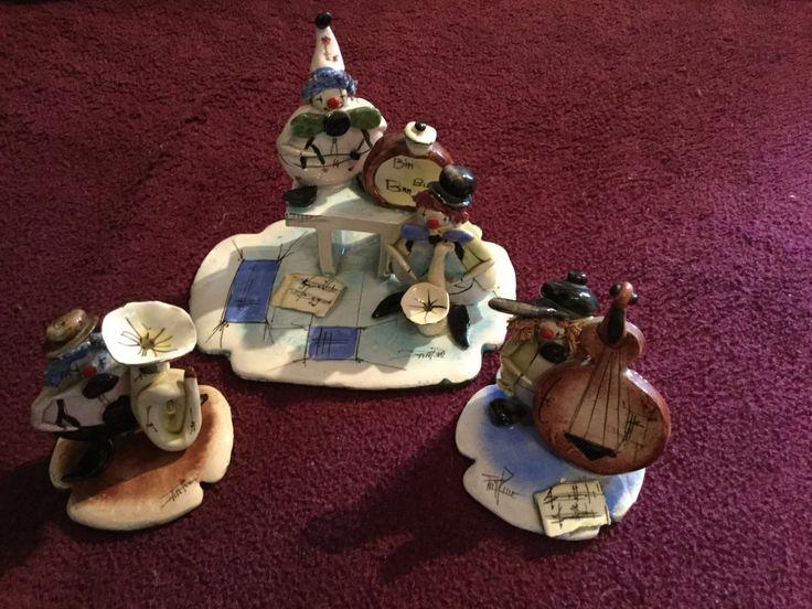 A Zampiva original glazed ceramic clown band by KitschyCornerStore on Etsy