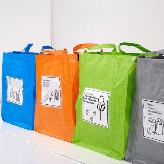 Best 25 recycling bags ideas on pinterest diy crafts for Recycling organization ideas