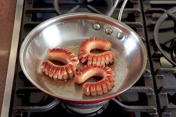 Watch a Legendary French Chef Make Curly Hot Dogs for His Granddaughter - If these easy-prep, fun-to-eat hot dogs are good enough for Jacques P�pin, master chef and friend of Julia Child, they're good enough for us!