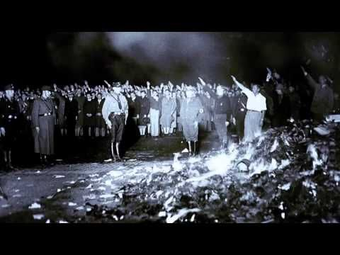 """On May 10, 1933, German students under the Nazi regime burned tens of thousands of books nationwide. These book burnings marked the beginning of a period of extensive censorship and control of culture in Adolf Hitler's escalating reign of terror.  In this short film, a Holocaust survivor, an Iranian author, an American literary critic, and two Museum historians discuss the Nazi book burnings and why totalitarian regimes often target culture, particularly literature."""