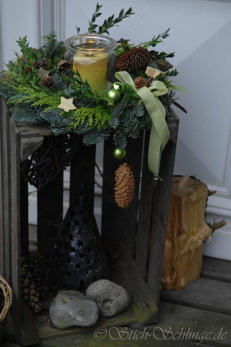 Weihnachtlicher Empfang an der Haustüre...                                                                                                                                                                                 Mehr