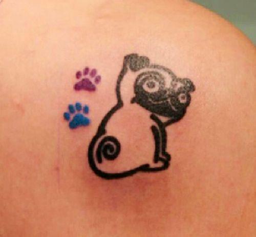 Pug tattoo   We Heart It   paws, pug, and cute