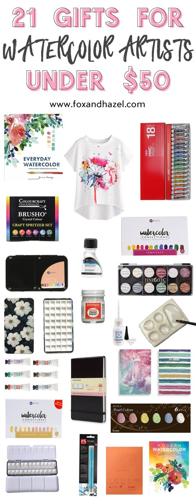 21 Gifts for Watercolor Artists Under $50