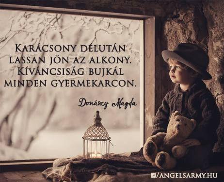 Donászy Magda versrészlet a karácsony délutánról. A kép forrása: Angels' Army