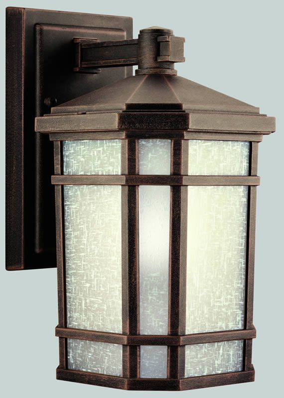 "0-008555>11""""h Cameron 1-Light Outdoor Wall Lantern Prairie Rock"