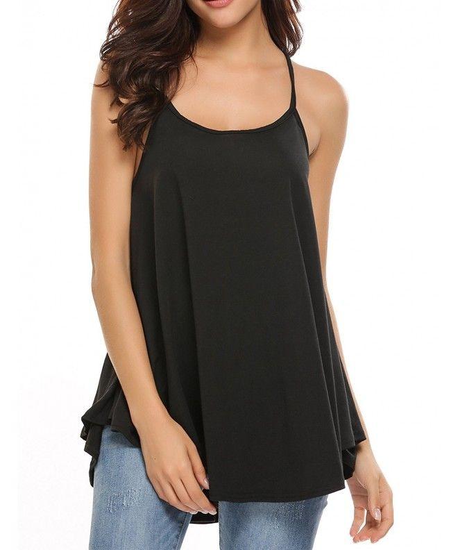 Womens V Neck Basic Tank Tops Casual Loose Fit Sleeveless Ribbed Knit Camis Shirts Tops