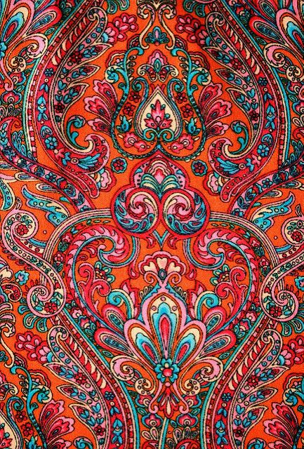 Orange Blue Paisley | From a skirt I have | Annie Butterfly | Flickr