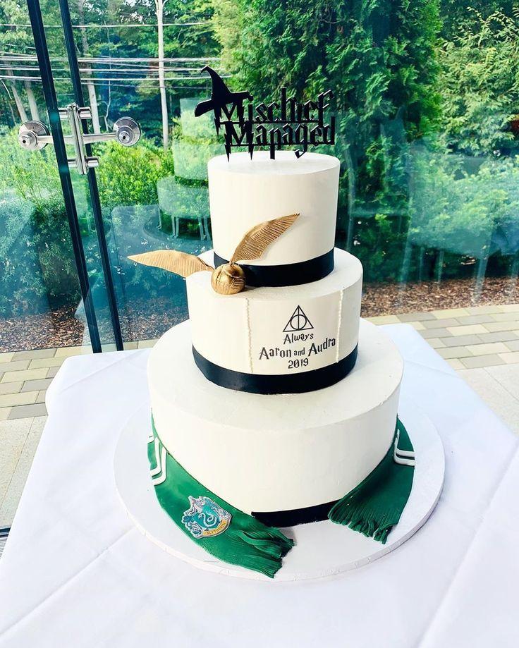 Hochzeitssaison! Wunderschöner Harry Potter-Kuchen! #cupcake #cookies #sugarru …