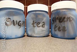 Sugar, tea, green tea, coffee storage jars - #recycle #reuse