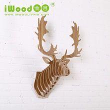 iwood animale teste di cervo a casa decorazione della parete