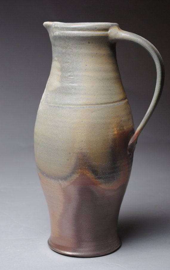 Clay Pitcher Wood Fired X1 by JohnMcCoyPottery on Etsy, $145.00 www.etsy.com/shop/JohnMcCoyPottery