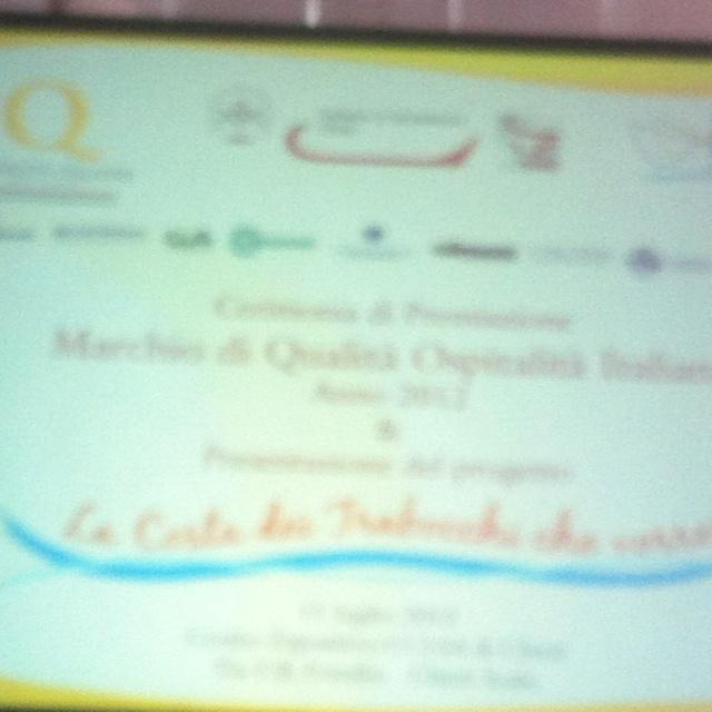 Marchio di qualità Ospitalità Italiana presso CCIAA di Chieti.