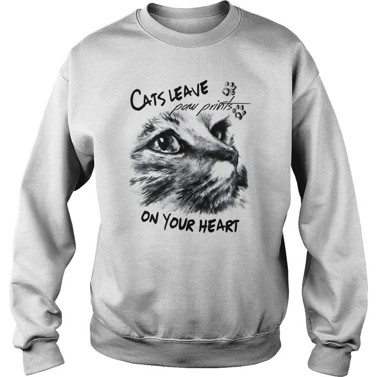 cats leave paw prints on your heart-t shirt