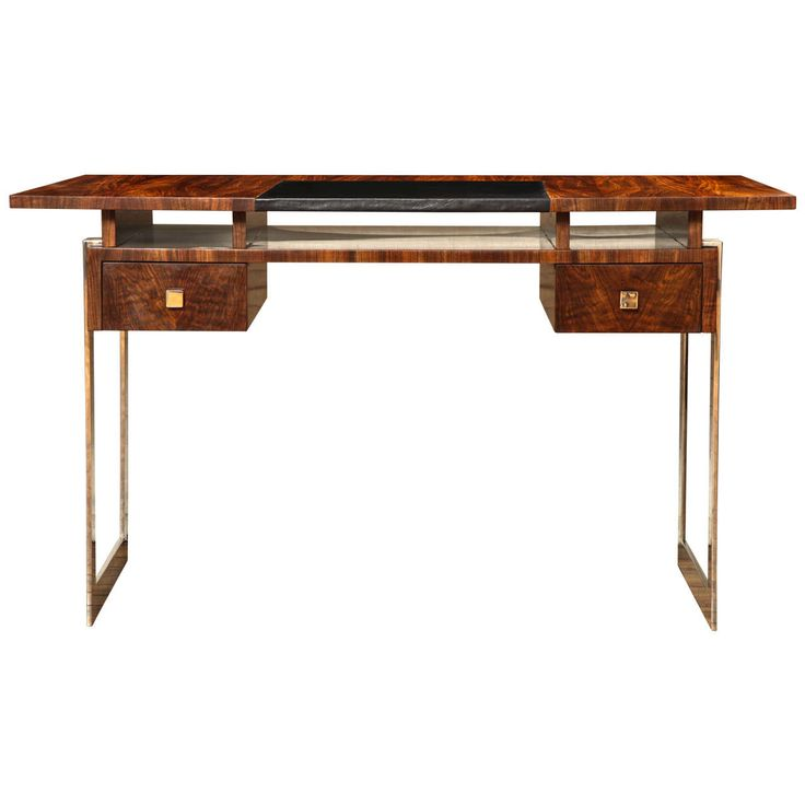 Elegant Art Deco Ladies Desk | From a unique collection of antique and modern desks and writing tables at https://www.1stdibs.com/furniture/tables/desks-writing-tables/
