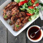 Marinert sesamkylling med wokede grønnsaker