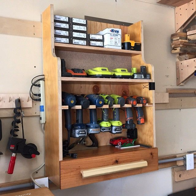"The new drill storage station in the ""build cave."""