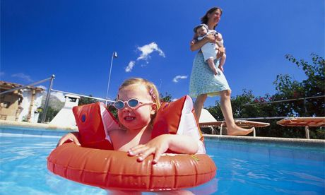 Try to book hotels or resorts with pools for the kids.