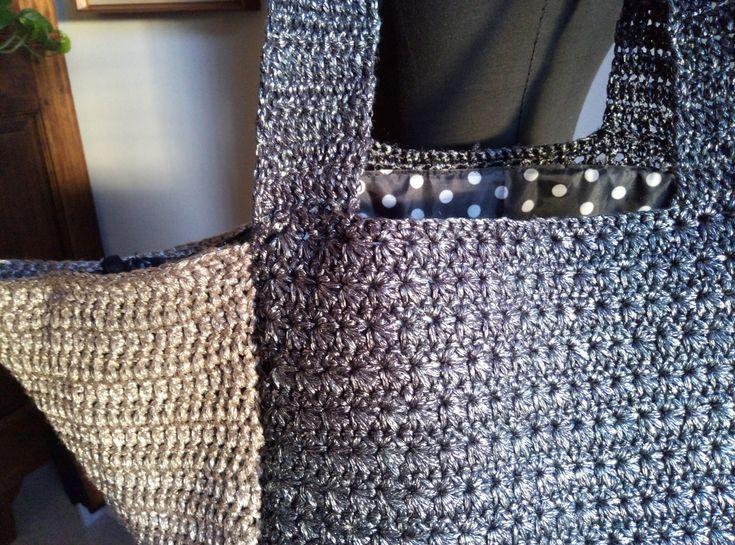 PATTERN: Metallic tote bag metallic cotton bag by Thecatandtheyarn