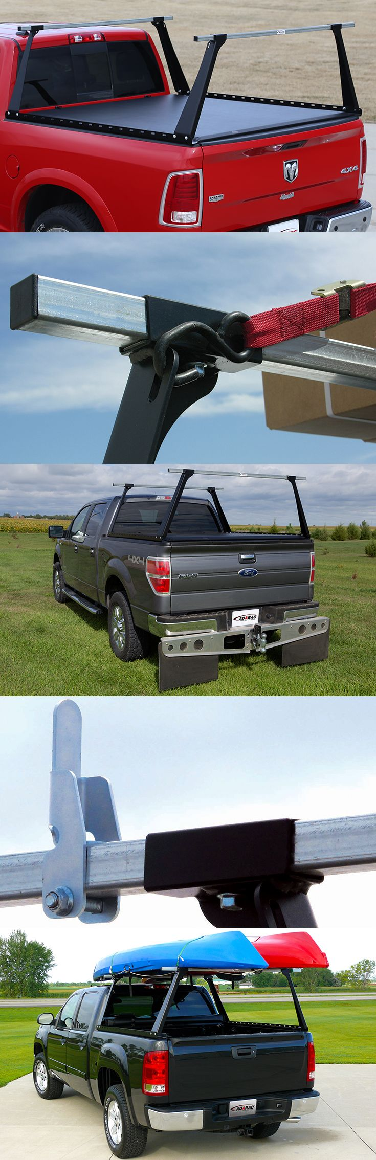 The ADARAC™ Truck Bed Rack works seamlessly with ACCESS® Roll-Up Covers and can carry loads as big as 500 pounds. The built-in tie-down locations make it simple to secure a load, and available cargo dividers help you fit more on the rack.