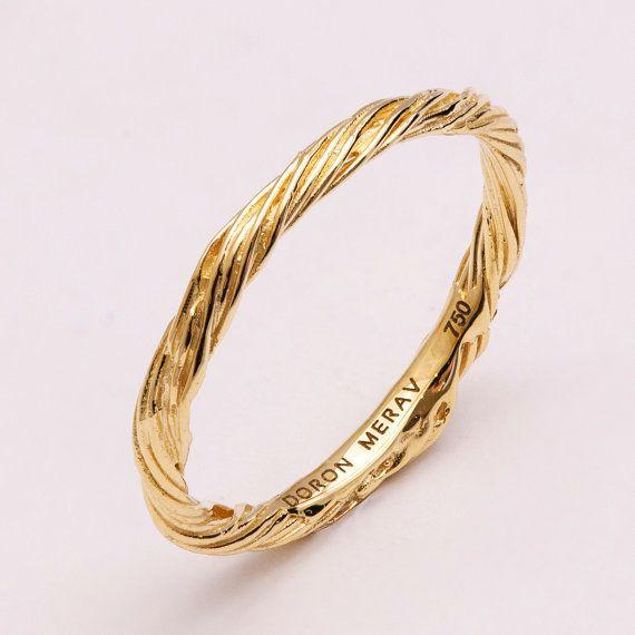 ツイッグ結婚指輪 14k ゴールドリング イエローゴールド 結婚指輪 アンティーク アールヌーボー by doronmerav                                                                                                                                                                                 もっと見る