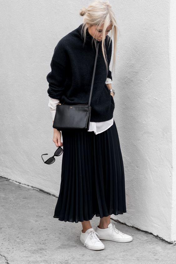 Der Herbststil, den wir lieben: Pullover mit Kleidern