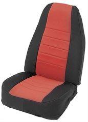 Neoprene Seat Cover Set CJ & Wrangler YJ 1976-1990 Red by Smittybilt