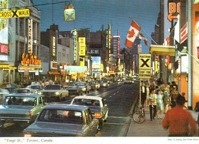 Yonge Street, Toronto, Canada in the 1960s