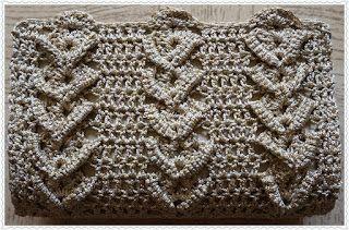 Sweet Nothings Crochet Chevron-like Clutch Purse