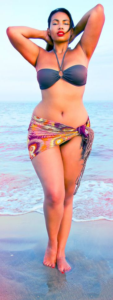 Morbidly obese bikini women