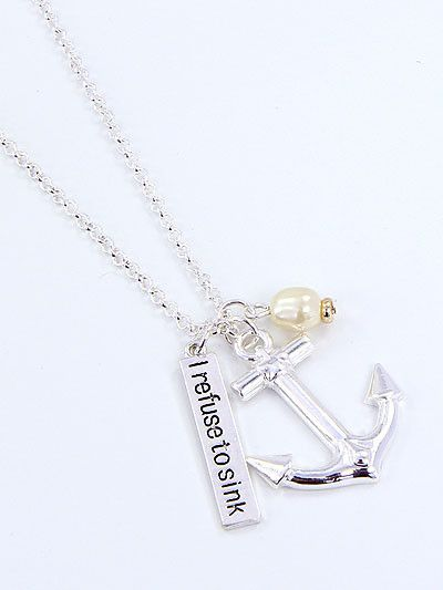 Sail through with this inspirational I Refuse To Sink Anchor Necklace! This I Refuse To Sink Anchor Necklace is a MUST HAVE! Designed with premium high quality material! You can get this unique neckla