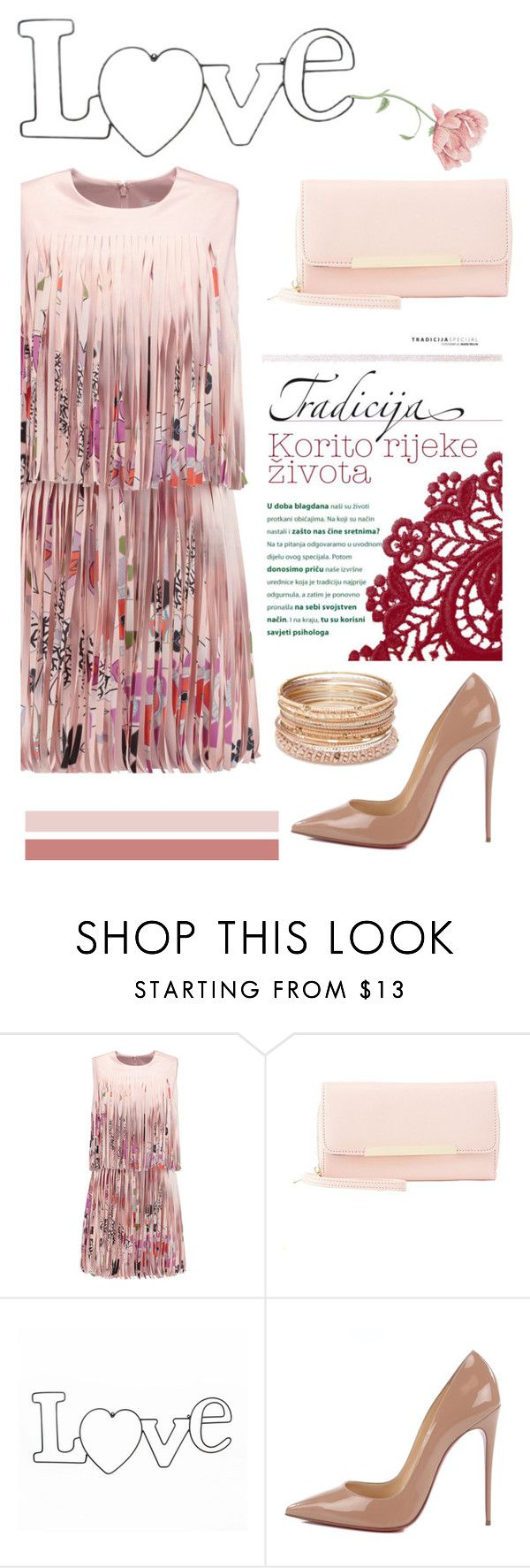 """""""Best Dressed Guest: Barn Weddings"""" by burpy ❤ liked on Polyvore featuring Alexis, Charlotte Russe, Christian Louboutin, Red Camel and rustic"""