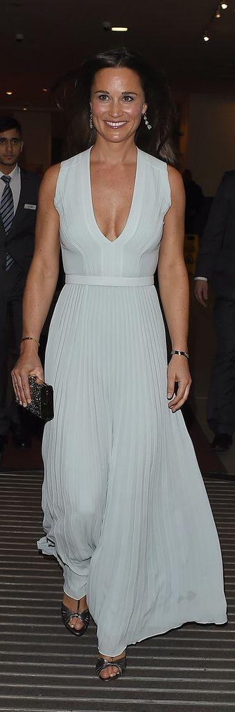 Pippa Middleton's pleated Hugo Boss dress.