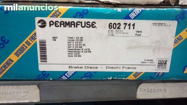 . Se vende jgo de discos de freno delanteros vw golf iii ventilados de 280 mm modelos 2.8i vr6 2.0 gti 16v,CORRADO  2.9I VR6 nuevos a estrenar en su caja. tambien wassapp