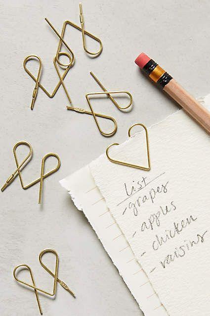 Marcadores/clipes de papel em forma de core! <3