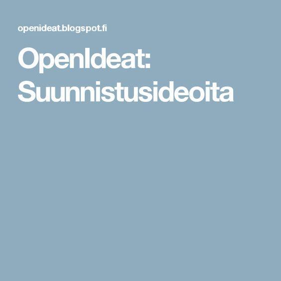 OpenIdeat: Suunnistusideoita