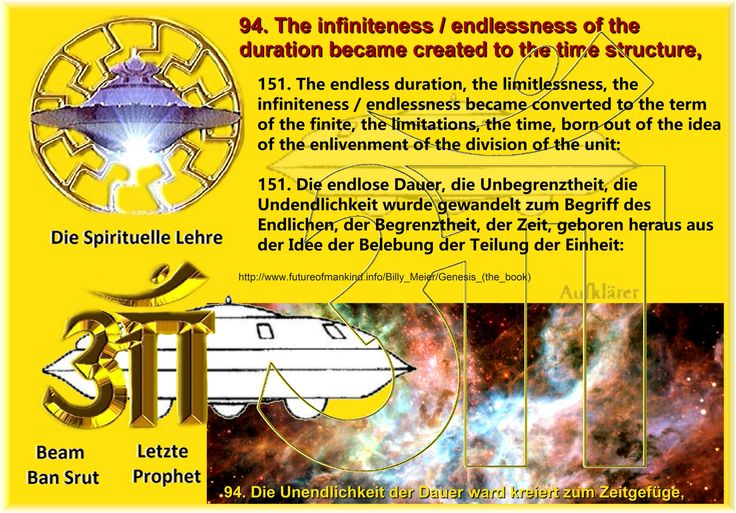 94. The infiniteness / endlessness of the duration became created to the time structure,  151. The endless duration, the limitlessness, the infiniteness / endlessness became converted to the term of the finite, the limitations, the time, born out of the idea of the enlivenment of the division of the unit:
