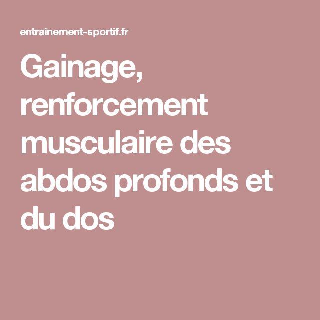 Gainage, renforcement musculaire des abdos profonds et du dos