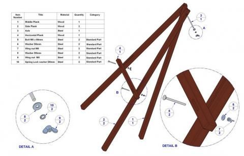 Tripod Easel Plans - WoodWorking Projects & Plans