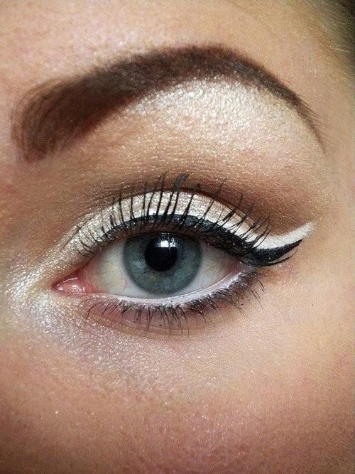 make-up lidstrich hochzeit weißer kajal