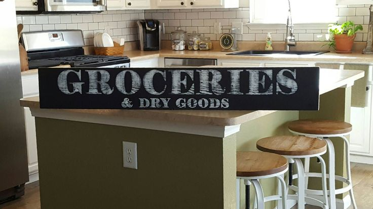 Grocery Sign,Groceries, Wood Sign,Hand Painted Sign,Farmhouse Sign,Rustic Sign,Distressed Sign,Kitchen SIgn,Kitchen Decor, Pantry Decor by RagdollAnnies on Etsy https://www.etsy.com/listing/260189931/grocery-signgroceries-wood-signhand